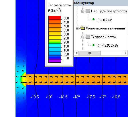Удельные потери тепла для шва кладки