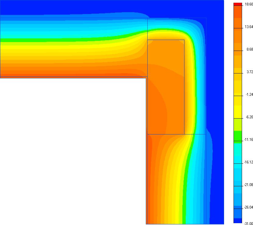температура на внутренней поверхности ограждающей конструкции