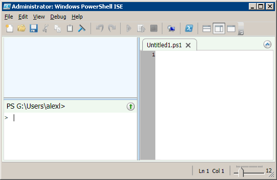 Running Windows Powershell Integrated Scripting Environment